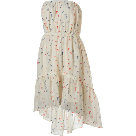 Entertainment The Quiksilver Women's Free Bird Strapless Dress leaves you speechless due to its luxuriously comfortable fabric, classy look, and relaxed fit. Paired with a long necklace and dress sandals, the Free Bird is one chic number. - $64.00