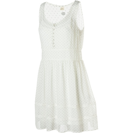 Entertainment The Quiksilver Edwardian Dots Tank Dress is a little bit baby doll and a little bit seductress. The direction you take it depends on the shoes you wear and what you do with the removable cami. - $34.75