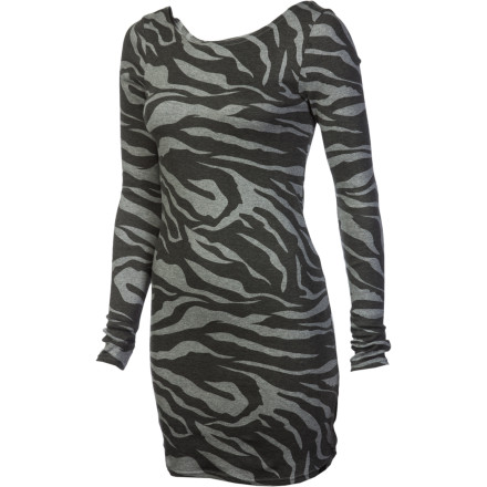 Entertainment What's more fitting than wildlife stripes on the figure-hugging body-con Vans Women's Cheetah-Con Dress' Because hitting the town in this sexy number is for the free and bold, like the cheetah that roam fast and strong. Overall, it's unabashed fun. - $21.70