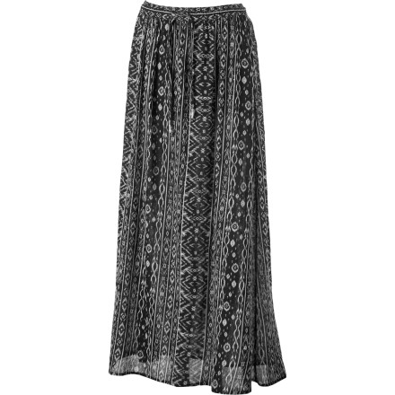 Surf The Billabong Wandering Moon Maxi Skirt is great for dancing around bonfires and casting love spells. It's also great for creating a super-chic look when you combine it with a hot top and a killer pair of shoes. - $24.73