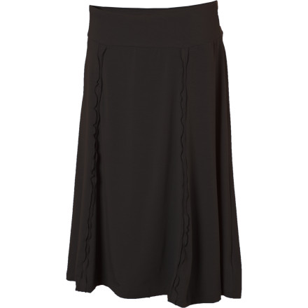 There's a reason Ex-Officio named the Women's Go-To Knee Skirt as it didyou guessed it, because it goes anywhere. How many other items do you have in your wardrobe that you can use for work, travel, parties, and everyday wear and have it look just right in any of those settings' This slightly-flared skirt's simple design, comfortable material, and always-appropriate knee length mean it can hang with you no matter where you are. - $64.95