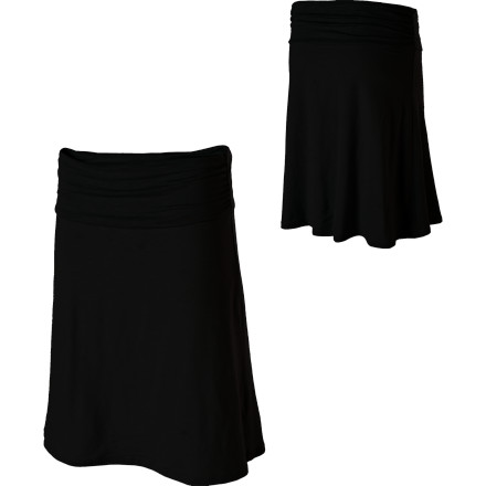 Fitness The Horny Toad Women's Chaka Skirt goes from running errands, to work, and then to happy hour in a cinch. Its wide gathered waistband flatters your bode, while its slightly above-the-knee length makes it work appropriate attire. Its A-line silhouette keeps you from looking too old fashioned, and paired with some stellar heels your guy will have a hard time taking his eyes off of your toned calves. - $57.95