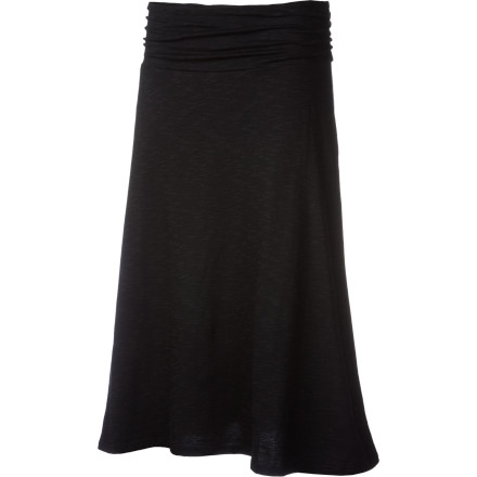Easy, breezy. That's how skirts should be, and with a silky-smooth touch and swingy A-line shape, the Horny Toad Women's Chaka Long Skirt is a prime example. It also features a wide ruched waistband with elastic stretch for everyday comfort and long, mid-calf length for ample coverage. Be warned: your other skirts will suffer neglect. - $67.95