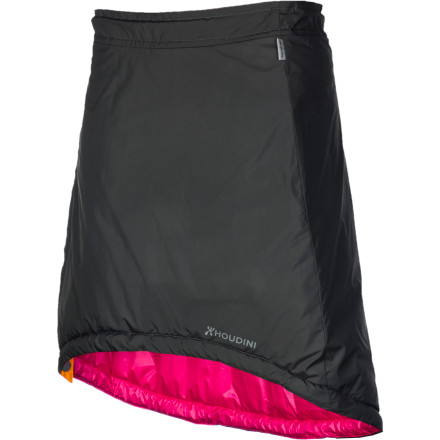 Camp and Hike To call the Houdini Women's Sleepwalker Skirt only a skirt would be like calling a multi-tool just a knife. Made of weather-resistant Comfortshell fabrics and stuffed with 100g of Ecosphere insulation, this technical skirt can serve as a warm skirt on chilly winter days, a comfy in-the-hut layer on tours, an additional sleeping bag layer around you feet and ankles, a cocoon for a baby, or a deluxe pillow. Let your imagination run wild; the potential for this skirt is limitless. - $118.96