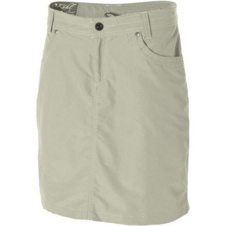 Camp and Hike Steal the spotlight when you head out wearing the KUHL Women's Bandita Skirt. This sporty skirt features a rugged, quick-drying nylon/cotton blend and a timeless style that's at home just about anywhere. Pair it with a cami and flips, or a camp shirt and plimsoles; no matter what you wear it with, it looks just right. - $41.97