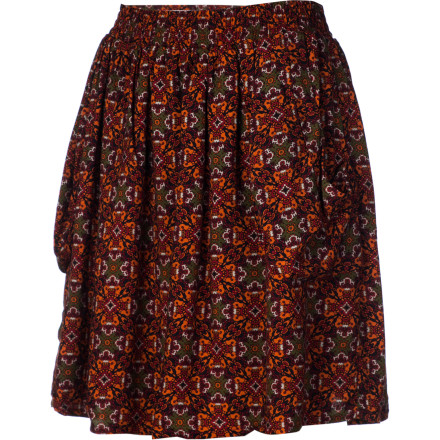 Slip on the Lifetime Women's Sally Skirt, pull back your hair into a ponytail, and get ready for your first gallery opening. This drapy mini skirt helps put you at ease while you showcase your art to the world for the first time. - $30.78