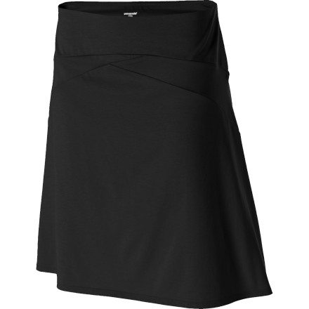 Patagonia gave the Vitaliti Skirt a high-fashion look and performance fabric to keep you looking great and feeling even better. You might wear this skirt to a party when you want a sophisticated, understated look, and while you're enduring punch-fueled anecdotes, this skirt will make you feel like you're wafting through a field of wildflowers. - $59.00
