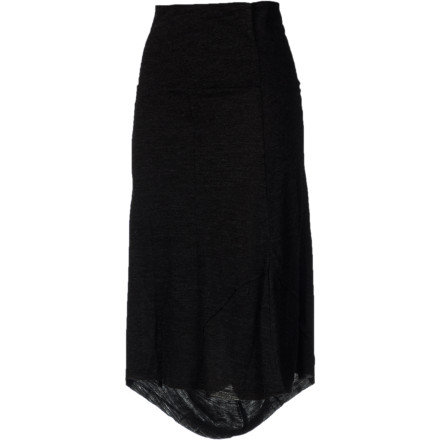 Even if you feel a bit frazzled from work or travel, the prAna Women's Daphne Skirt always helps you chill. The super-soft acrylic and wool blend not only feels great against your skin but also resists suitcase or seat wrinkles like a champ. - $30.22