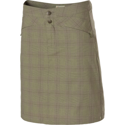 Entertainment A crisp plaid pattern sets the Royal Robbins Women's Epitome Skirt at the peak of casual style. Dress it up for work with some low heels or keep it relaxed for weekend wear; either way, you'll be at the top of your game in this comfortable, good-looking skirt. - $29.98