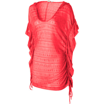 Entertainment It's margarita time, so pull on the Roxy Women's Tropicali Cover-Up Top and get yourself to the nearest tiki bar. This hooded poncho helps protect you from the sun's rays while you sit back, relax, and lick the salt off the rim of your cocktail glass. - $27.23