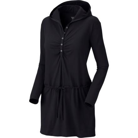 Entertainment Skip jeans or shorts and toss on the Mountain Hardwear Women's Hooded Butter Dress. It's oh-so-comfy fabric keeps you plenty comfortable, while the Butter's chic style gets you an upgrade ticket into first class. - $51.97