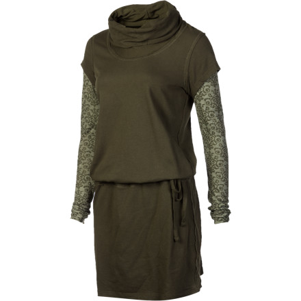 Entertainment After a long bouldering session or a weekend at the campsite, shower, pull on the prAna Women's Becky Dress, and head out for a delicious dinner. This dress' two-fer styling and burnout sleeves help you re-enter civilization. - $48.72