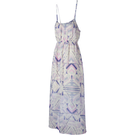 Entertainment The Quiksilver Women's Native Watercolor Maxi Dress blends an elegant, drapey contoured shape with a cheery yet pleasant all-over artisan print. Since it's just as perfect for special occasions, or 'just because,' the Native Watercolor Maxi goes with sandals and your most ferocious heels. - $64.00