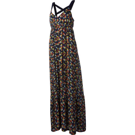 Entertainment Wearing the Quiksilver Fern Floral Maxi Dress is like wearing a giggle or a perfect sunset. This dress has a casual, breezy feel and an earthy, whimsical look that will make your whole body smile. - $48.65