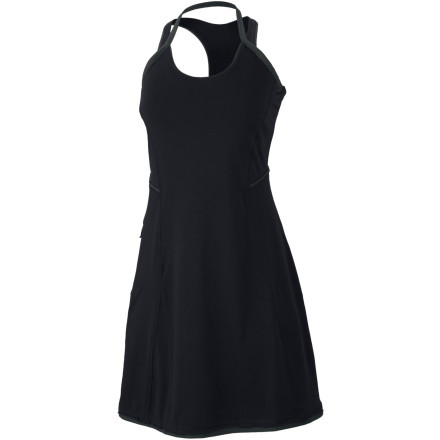 Entertainment Even when youre just cruising around town, the Mountain Hardwear Womens Tonga Dress makes you want to order a round of fruity cocktails and dance on the beach. Whether you're taking a trip from the bar to the beach or you're stuck on a plane all day, this sporty dress will keep you comfy all day long. - $34.98