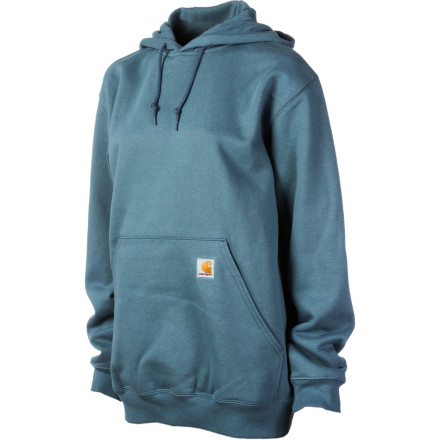 The Carhartt Women's Hooded Pullover Sweatshirt keeps you warm without making you look like a billboard. Pull this hoody on and lounge around the house, chill on the porch, or go for a quiet stroll in the park. - $26.98