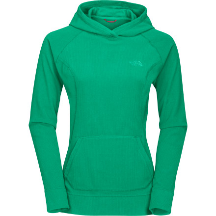 If you had the first-ever The North Face TKA 100 fleece jacket, you could tell that this North Face TKA 100 Hooded Pullover provides 10% more warmth, is 50% more thermally efficient, and weighs 27% less ... and it's 24% more breathable and 18% more compressible. So basically, you can pack this hoody in your messenger bag (with room for snacks) and you can stay toasty when the sun goes down. - $48.97