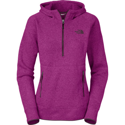 Ski The North Face Women's Crescent Sunshine Hooded Sweatshirt offers the style of an indoor sweater, but plush fleece fabric wicks, dries quickly, and defends you from the sun as well. So feel free to layer it under a vest for a snowshoe in the woods, wear it under your ski shell, or use it for light insulation on a fall hike through the golden aspens. - $66.47