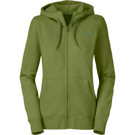 On cold mornings, you want a warm hoody with a simple design that looks good with anything, you just don't want to have to think about it. The North Face Women's Logo Full-Zip Hooded Sweatshirt fits the bill, to a T. A small logo on the chest keeps the styling low-key to go with the standard, regular-fit cut. Ribbing at the cuffs keeps drafty chills from sneaking up the sleeves while you sip your morning tea on the porch. - $35.72