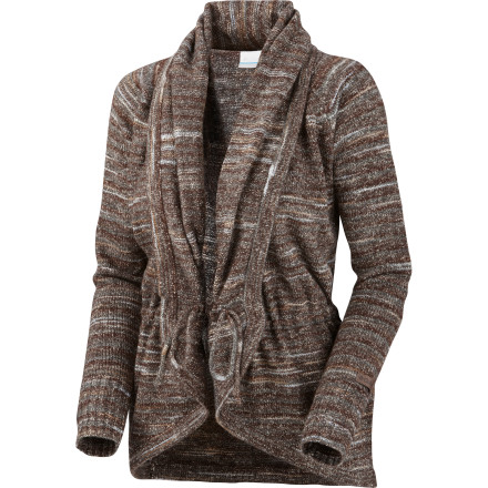 The Columbia Women's Ombre Hombre Wrap Sweater has a refined feel that is great for Park City lunches or autumn shopping in Aspen. - $58.47