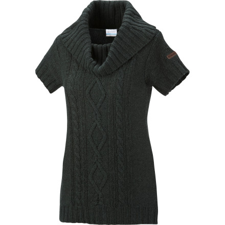 Slip into the Columbia Women's Cabled Tunic Sweater and slip down to the lodge bar for a quick bite and a drink or two. This comfy sweater is great for laid-back dinners, and it packs enough style to keep you looking good at more upscale events too. - $41.22