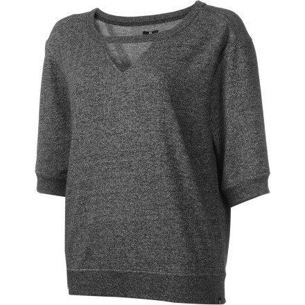 Why bother with an uncomfortably super-tight top' Toss on the DC Women's Motega Sweater, grab your things, and get a quick cup of coffee before you start your long day of back-to-back classes. - $19.00