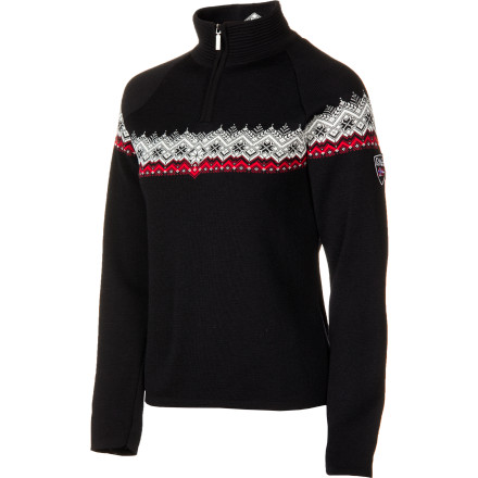 The Dale of Norway Women's Calgary Sweater combines the traditional elegance of classic Scandinavian style with one of nature's softest knit fabrics, merino wool. This refined sweater will keep you cozy and looking great whether you are dodging paparazzi at a Park City film festival or sipping mulled wine in the Alps. - $223.16