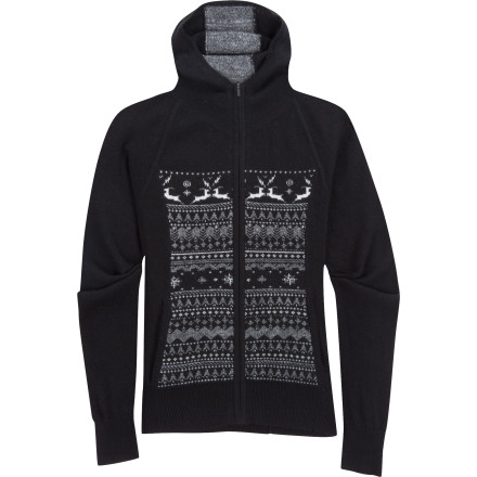 Made from a super-soft blend of lambswool and cashmere, the Ibex Women's Fair Isle Hoodie is certain to become your go-to choice for casual comfort. The fitted hood and full length front-zip provide the hoodie look and feel you love while the Scandinavian pattern and princess seams incorporate timeless sweater style. - $146.22
