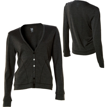 Toss on the Icebreaker Women's Superfine Bliss Cardigan Sweater for chilly walks beneath the stars, rainy days, and to weather frigid restaurants or offices. This beauty of a sweater is easy to wear anywhere, thanks to its relaxed fit and V-neck style. Made with lightweight, breathable, and odor-resistant Superfine 200 merino wool fabric, the Bliss keeps you cool in the heat and warm at night. - $65.97