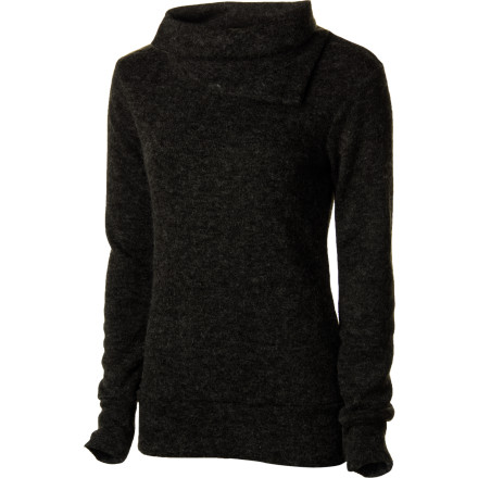 Every woman needs a cozy, easy-wearing top when the chill sets in, one like the Kavu Women's Sweetie Sweater, made of polyester knit and featuring an asymmetrical collar. Its light and lazy, relaxed style with hip-length coverage lets you lounge in comfort or hit the town in simply flattering fashion. - $43.97