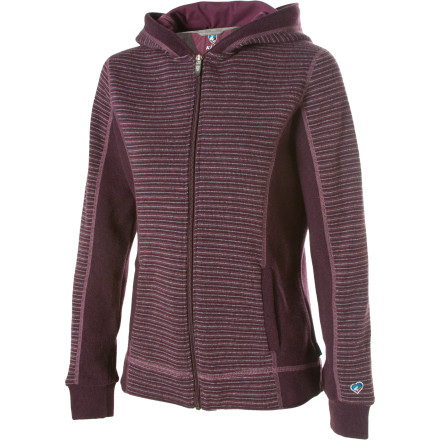Some days are better than others, but when you have the KUHL Women's Sovana Full-Zip Hooded Sweater on, everything just seems to fall in place. Maybe it's the fact that this sweet piece is made with a midweight polyester wool blend that keeps you extra comfy on cold winter days. Or maybe it's the Sovana's microfleece-lined hood and flatlock stitching that put you in a good mood. - $65.97