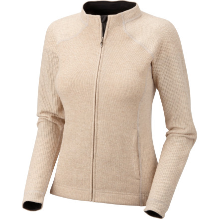 Zip up the Mountain Hardwear Women's Sarafin Cardigan before you head out to conquer the massive list of errands you've been putting off. This mid-weight sweater features ribbed sleeves, stylish lines, and a stand-up collar that exude graceful vibes even though you're frantically trying to get everything done before the weekend. - $77.97