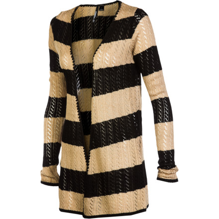 Surf The O'Neill Duet Sweater is made from lightweight, breathable acrylic and features dazzling stripes, which make beautiful music together. But you don't have to be a chanteuse to appreciate the Duet's modern length and cardigan silhouette. - $41.67