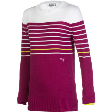 Ski Good thing you stashed the Orage Women's Yoho Sweater in your ski/boot bag. You didn't think you would need a change of clothes, but now that interlodge has been declared you're glad you can slip out of your stinky baselayer and into this comfy sweater. - $21.00
