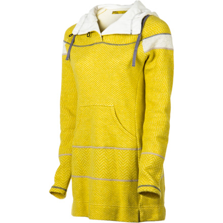 An Italian wool-blend knit, button-up neck, and drawcord hood make the prAna Women's Caitlyn Tunic Sweater cozy warm; they're also what make this sweater so irresistibly stylish. With a liberating multi-pattern and contrast stitching, you'll lament that all things aren't this functionally fashionable. - $118.27