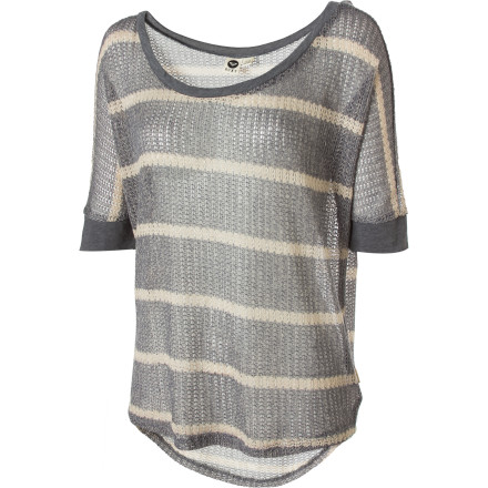 Surf Top off those super-skinny jeans of yours with the unique Roxy Women's Doheny Sweater. The boxy dolman-sleeve profile perfectly tops your long pipes for a striking effect. - $18.25