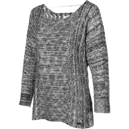 Surf Slip into your Quiksilver Women's Sugar Pine Dolman Sweater before you head to Newport for a evening cruise in your yacht. This loose, airy sweater is perfect for sipping cocktails while you listen to the sound of waves and wind. - $44.70