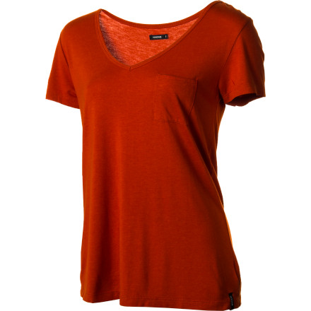 A little more basic than your dressed-up scoop necks, the Nixon Women's Everyday Scoop T-Shirt can be worn out on the town or when you're simply lounging around the house. Rayon from bamboo (plus a bit of cotton) feels silky smooth so you'll stay cool on hot days. - $17.98