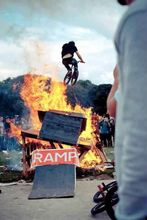 BMX where's the ramp? wait a minute, never mind
