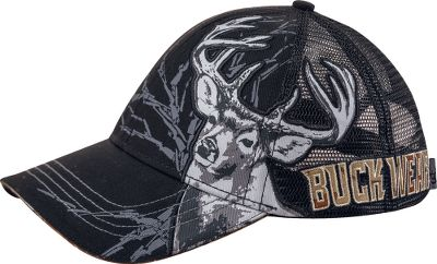 Hunting Express your passion for deer hunting with Realtree camo accents and an embroidered whitetail logo. Six-panel, medium-profile cap sports airy mesh panels for staying cool. 100% cotton construction and hook-and-loop closure. Machine washable. One size fits most. Imported.Color: Black. - $17.99