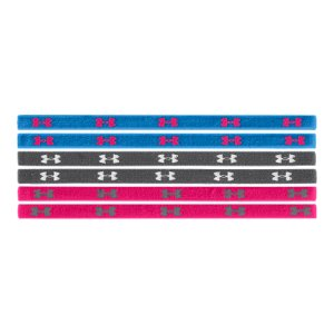 Fitness Soft elastic mini headband with grippy silicone UA logos for stay-put performanceMoisture-wicking fabric helps keep you cooler and drierSold in sets of six so you always have a headband when you need oneWidth: 1cmYouth one size fits allImported - $9.99