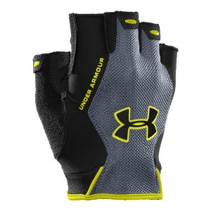 Fitness Lightweight performance fit geared to protect without hindering your workoutHeatGear(R) and mesh fabric allow breathability and dry quickly, keeping your hands light and coolSignature Moisture Transport System wicks sweat away from the hand, so you stay drier, longerStrategically placed silicone palm prints provide added gripDurable synthetic palm with mesh ventilation gives you breathability without sacrificing strengthTerry sweat wipe built into thumb, for when things really heat upComes in pairsImported - $14.99