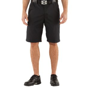 "Fitness Light and ventilated with sun protection built right in, these shorts are the ideal weight and feel for hours on the links. They've also got a longer 11"" inseam for guys that like more coverage. Yarn-dyed pinstripe twill fabric combines durability with lightweight performance Signature Moisture Transport System wicks sweat away from the body Two hand pockets and two rear pocketsStain-resistant treatment on the outer wall of hand pocket fabric, prevents the bleed-through of mud and dirt 11"" inseam4.25 oz. PolyesterImported - $52.99"