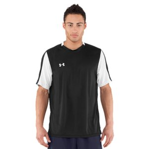 Fitness Lightweight, fast-drying, 4-way stretch fabric improves mobility.  Game-changing Moisture Transport System wicks away sweat to keep you cooler and drier.  Colorblock design ideal for game day.  100% Polyester.  Imported. - $22.99