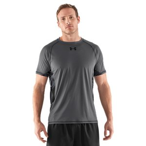 Fitness UA is known for lightweight...but you haven't felt anything like this before. UA was founded on a t-shirt created to wick away sweat and dry quickly, keeping athletes lighter and more comfortable. Now we've taken things to the next level with our HeatGear(R) Flyweight, the lightest Under Armour(R) ever. Ultra-light, smooth fabric skimps on nothing but the weightStrategically placed mesh panels deliver enhanced breathability Signature Moisture Transport System wicks sweat away from the bodyAnti-odor technology prevents the growth of odor causing microbesUPF 50+ protects your skin from the sun's harmful raysRaglan sleeve construction and smooth flatlock seams allow a full range of motion without chafingUltra-durable woven neck lies comfortably as you move3.2 oz. PolyesterImported - $24.99