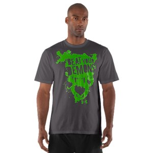 Fitness UA graphic T's are like all our other T's-performance is built right into their DNA. This T-shirt is made from Charged Cotton(R) so it still has the familiar comfort of cotton, but dries much faster, so you'll stay cooler when you go to work. Lightweight Charged Cotton(R) has the comfort of cotton, but dries much fasterSignature Moisture Transport System wicks sweat away from the bodyAnti-odor technology prevents the growth of odor causing microbesDurable ribbed collar provides a comfortable fitCotton/PolyesterImported - $18.99