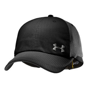 Entertainment Adjustable ball cap has a structured fit for enhanced comfort and stabilityAll-over performance mesh accelerates dry time for extreme ventilationUltra-lightweight construction for enhanced comfortTwo-tone front and back adds style and statementContrast gussets and visor detailAdjustable comfort closure in the back of hat so you can get the best fit Metallic front logoPolyester Imported - $14.99