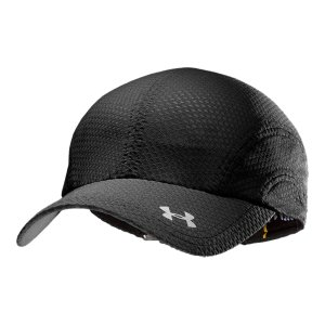 Fitness Adjustable run cap has sleek design lines for a faster look and more streamlined wear Super-lightweight closed hole mesh construction for superior breathabilitySignature Moisture Transport System keeps you cool, dry, and lightBuilt-in sweatbandLow-profile design for less drag while runningAdjustable comfort closure in the back for a comfortable, custom fitPolyester/ElastaneImported - $15.99