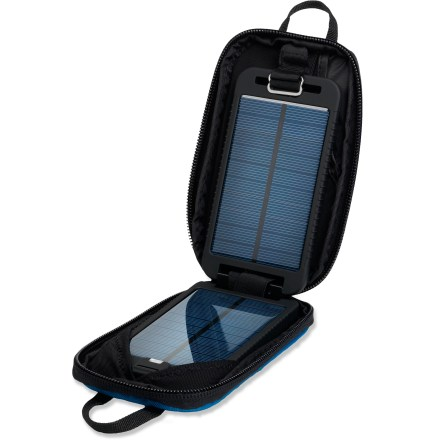 Camp and Hike The lightweight Powertraveller Solarmonkey Adventurer solar charger combines an efficient solar charger with an internal battery, perfect for world travel to places where electricity may be scarce. - $64.93