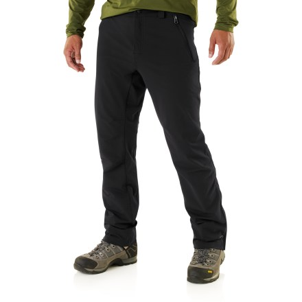 Camp and Hike The REI Mistrals are sleek, all-purpose soft-shell pants. They're perfect pants to keep you hiking comfortably through autumn's weather changes. - $48.83